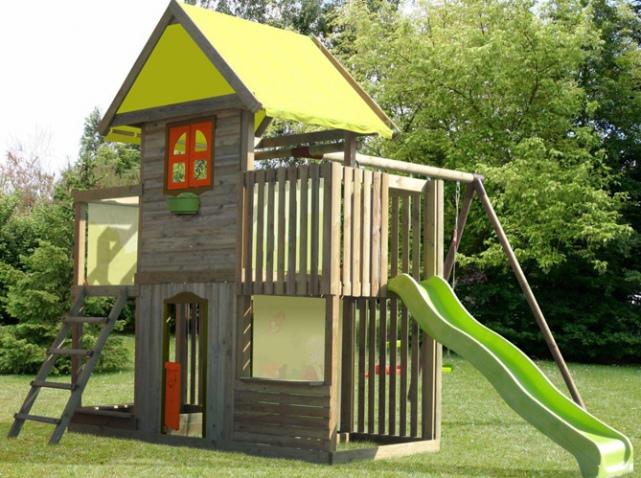 Portique Jardin Enfant Abri De Jardin Et Balancoire Ide