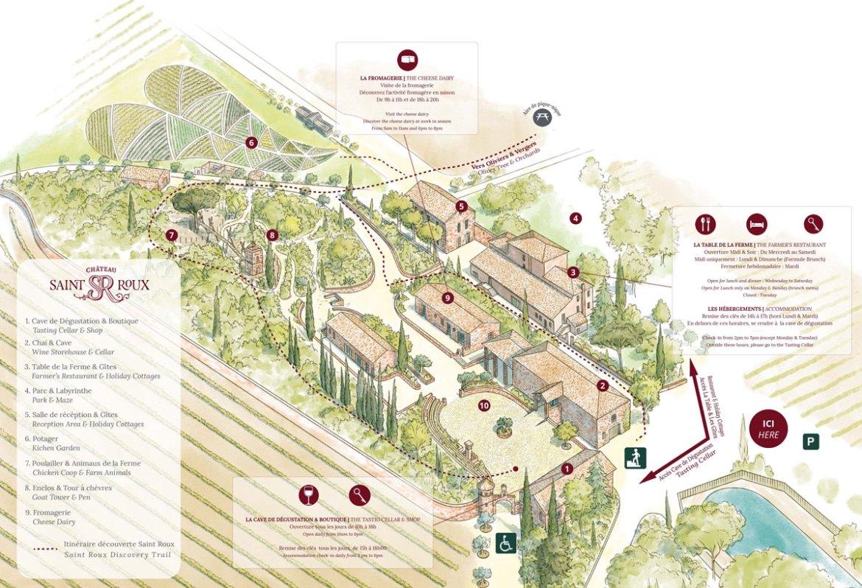 Plan du Domaine Saint-Roux