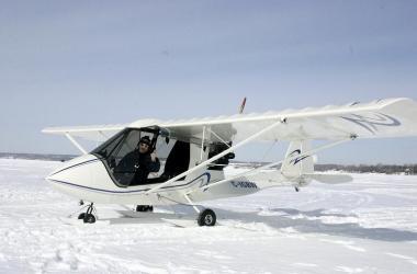 Challenger II sur skis