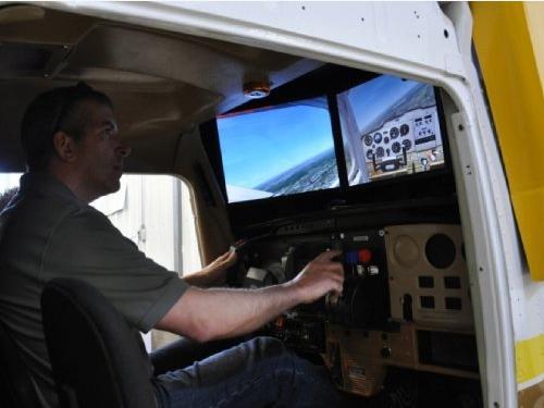 simulateur de vol de type Cessna