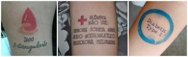 tatuagem de uso médico