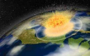 Meteorite impact en Chicxulub
