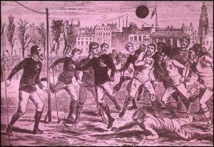 La noche en que nació el fútbol (en una taberna).