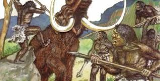 Man hunts mammoth