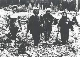Los Lykov con la arqueóloga rusa
