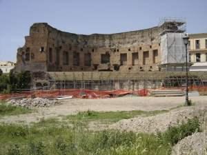 Ruinas de la Domus Aurea en la actualidad.