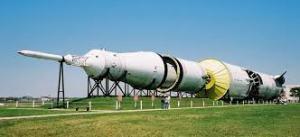 Saturn V en el Centro Espacial Johnson, Clear Lake, Texas.