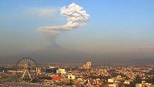 El Popo sobre Puebla