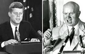 Kennedy y Khrushchev