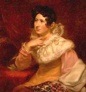 Lucreta Pickering, retratada por su esposo Samuel Morse