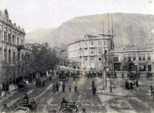 Escena del robo en la Plaza Yerevan, expropiación.