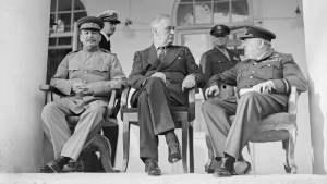 Stalin, Roosevelt y Churchill