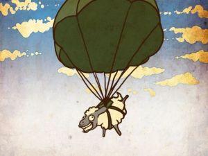 Mussolini y las involuntarias ovejas paracaidistas.