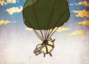 Ovejas en paracaidas