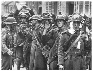 Soldados franceses capturados, 1940.