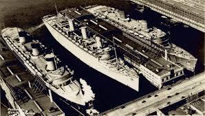 El Normandie, el Queen Mary y el Queen Elizabeth en Nueva York