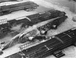 El Normandie se incendia en Nueva York