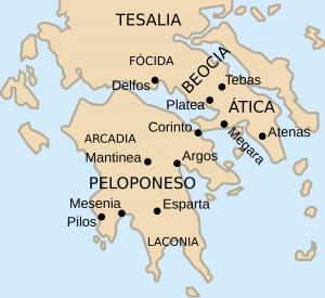 Mapa de Esparta