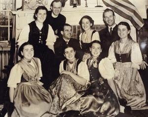 Otra imagen de los von Trapp originales
