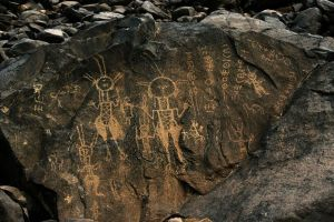 Pinturas rupestres en Gobero, Sahara