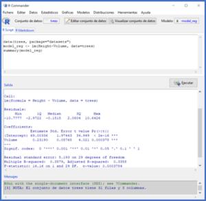 Regression model diagnostics - R-Commander's interface