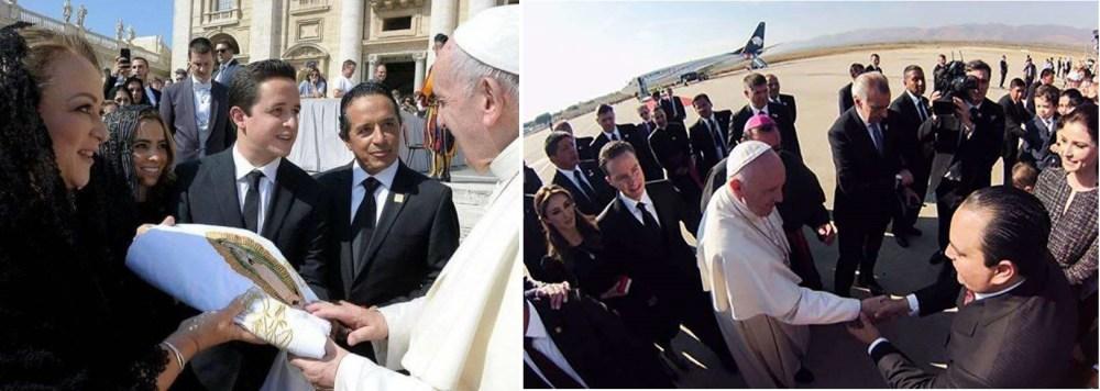 Gobernadores de Quintana Roo y el Papa