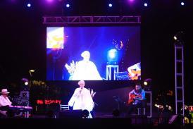 Espectacular y vibrante concierto de Eugenia León en Playa del Carmen