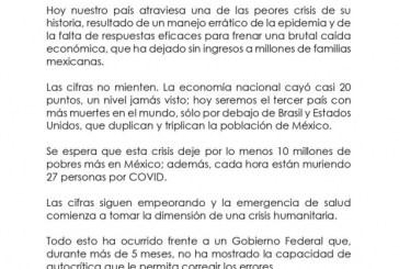 Gobernadores panistas, priistas y un perredista exigen cabeza de López-Gatell