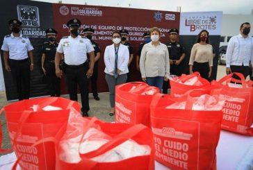 Gobierno de Laura Beristain e iniciativa privada entregarán 11 mil cubrebocas a policías