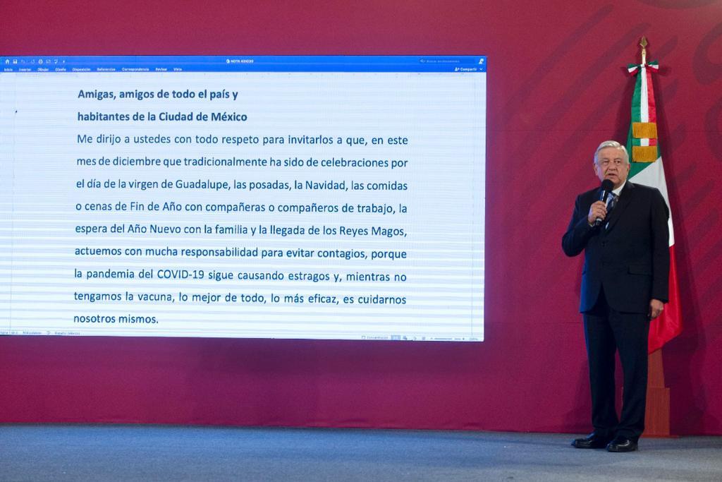 AMLO LLAMA A MEXICANOS PARA ACTUAR CON RESPONSABILIDAD DURANTE FESTIVIDADES DECEMBRINAS