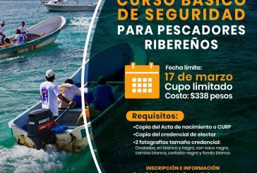 """El Ayuntamiento de Cozumel invita al """"Curso básico de seguridad para pescadores ribereños"""""""