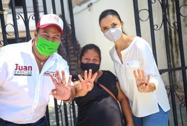 Juan Carrillo ex priista abanderado de Morena inicia campaña