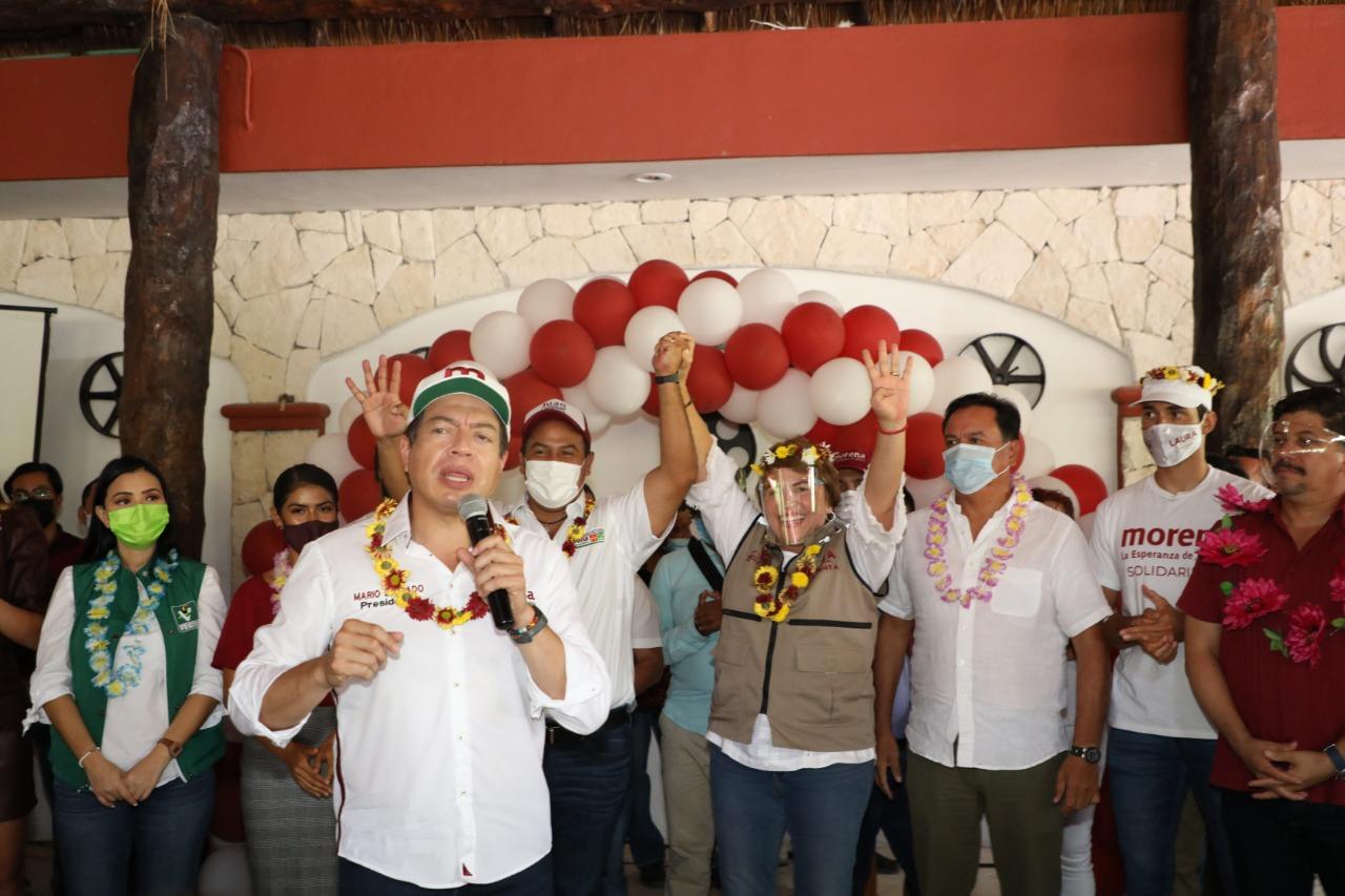 Total respaldo de Mario Delgado y Morena Nacional a Laura Beristain