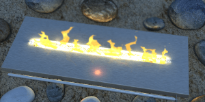 Fashionable ethanol burner design - 3D CAD product shot visualisation