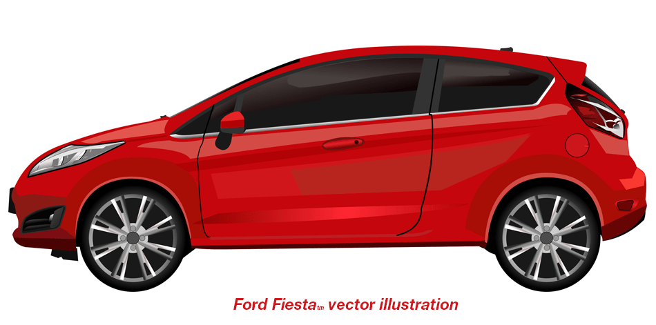 High detail car vector illustration side view