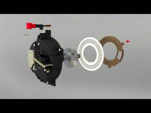 3D CAD Animation - Still from a farming maching component exploded view