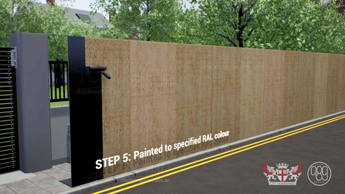 City Hoardings build process 4