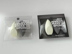 Duo pack design trial for a make up sponge