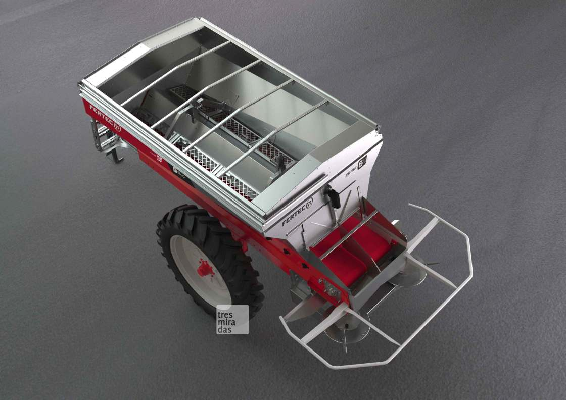 Fertec's new towed fertilising machine product render
