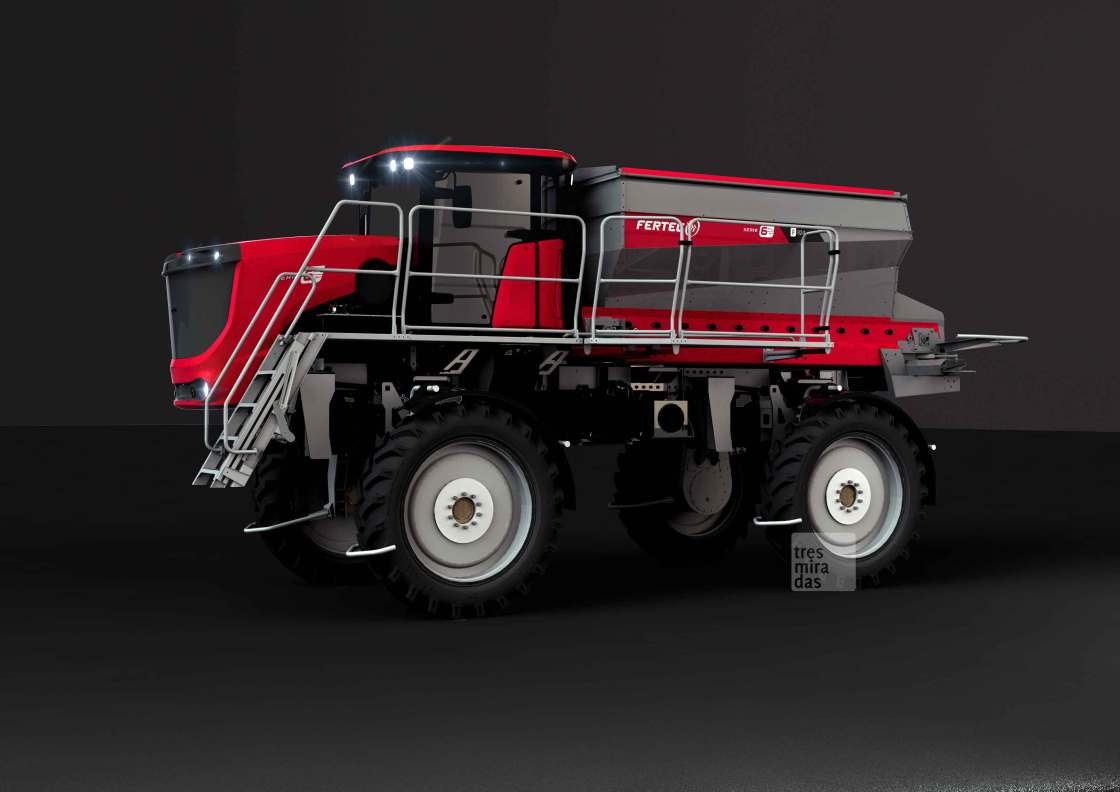 Fertec's new self propelled fertilising machine product render