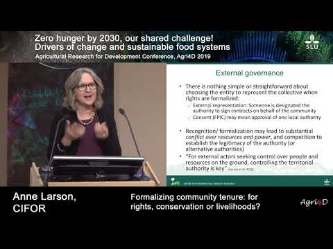 Formalizing community tenure: for rights, conservation or livelihoods?