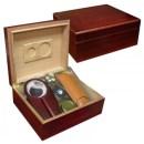 Diplomat Deluxe Humidor Combo Gift Set - Cherry