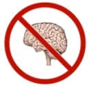 Symbol for Not Using Your Brain