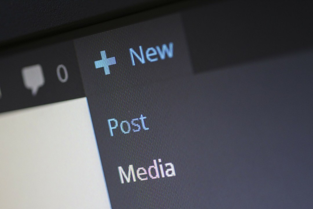 Adding new post and media on WordPress for business