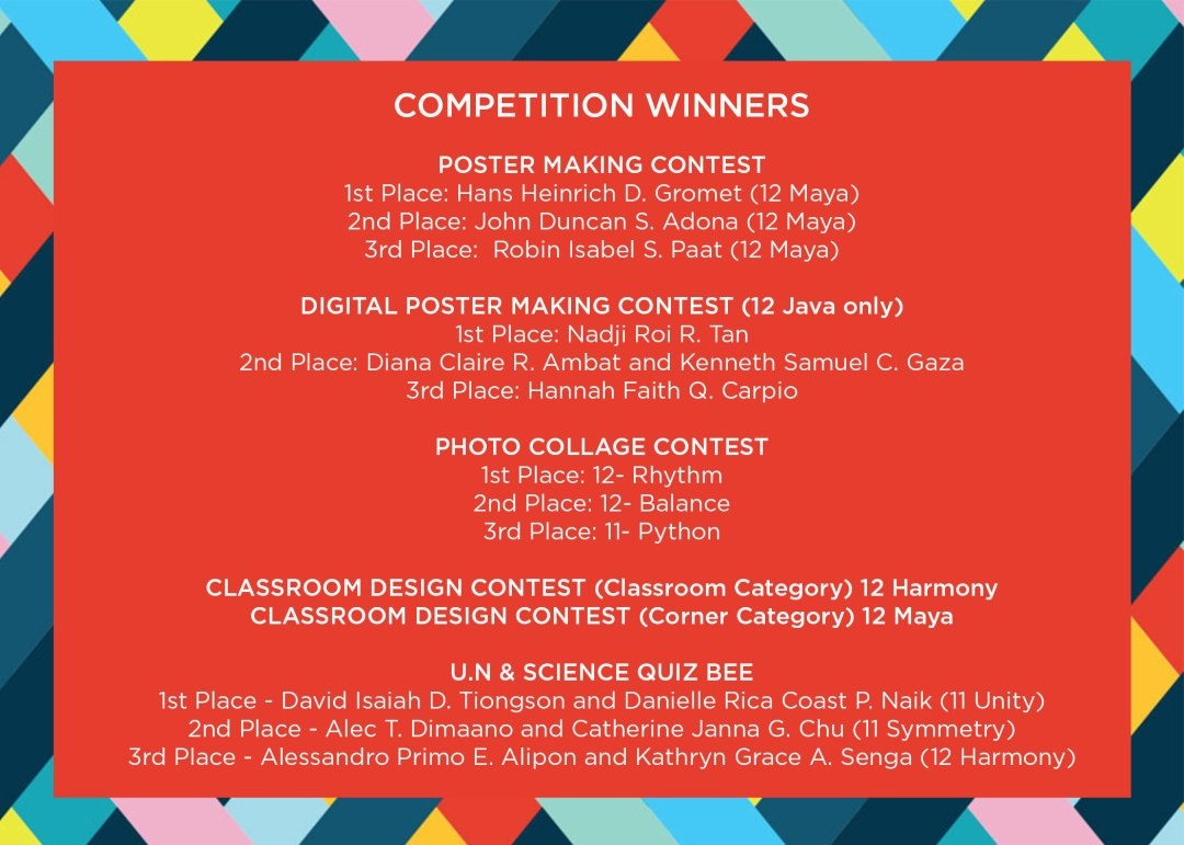 CIIT UN and Halloween Celebration Competition Winners