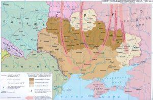 Голодомор та переселення (1932-1933 рр.) – мапа