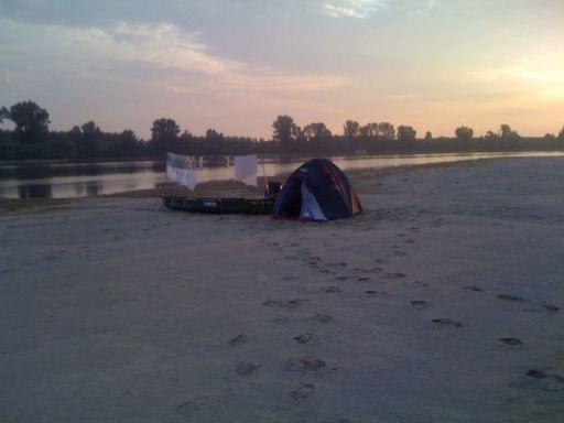 Il nostro accampamento per la notte