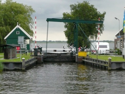 Lock into De Poel, Netherlands