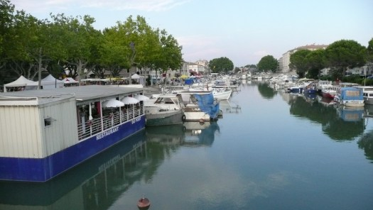 Beaucaire port in daytime, France