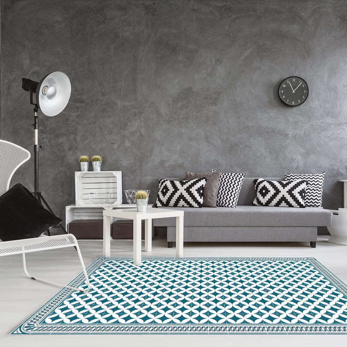 tapis vinyle carreaux de ciment louison